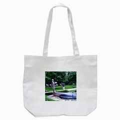 Shakespeare Garden Stratford Tote Bag (white) by Riverwoman