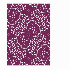 Magenta And White Abstract Print Pattern Large Garden Flag (two Sides) by dflcprintsclothing