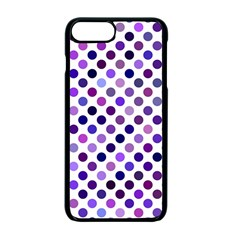 Shades Of Purple Polka Dots Apple Iphone 7 Plus Seamless Case (black) by retrotoomoderndesigns