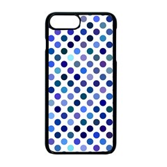 Shades Of Blue Polka Dots Apple Iphone 7 Plus Seamless Case (black) by retrotoomoderndesigns