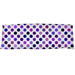 Shades Of Purple Polka Dots Body Pillow Case (dakimakura) by retrotoomoderndesigns