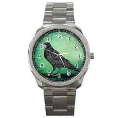 Raven   In Green   Sport Metal Watch by WensdaiAddamns