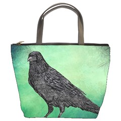 Raven   In Green   Bucket Bag by WensdaiAddamns