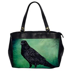 Raven   In Green   Oversize Office Handbag by WensdaiAddamns