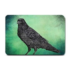 Raven   In Green   Small Doormat  by WensdaiAddamns