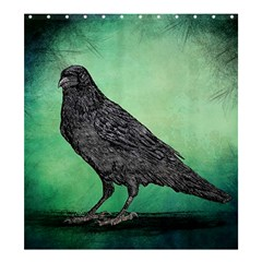 Raven   In Green   Shower Curtain 66  X 72  (large)  by WensdaiAddamns