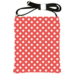 Red White Polka Dots Shoulder Sling Bag