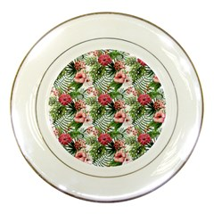 Tropical Flowers Porcelain Plates by goljakoff