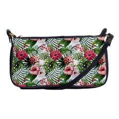 Tropical Flowers Shoulder Clutch Bag by goljakoff