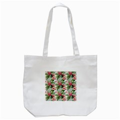 Tropical Flowers Tote Bag (white) by goljakoff