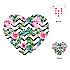 Geometric Flowers Pattern Playing Cards (heart) by goljakoff