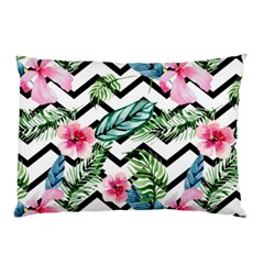 Geometric Flowers Pattern Pillow Case (two Sides) by goljakoff
