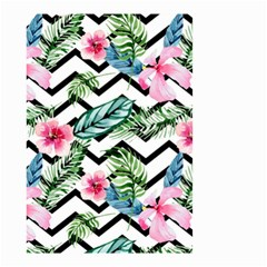 Geometric Flowers Pattern Small Garden Flag (two Sides) by goljakoff