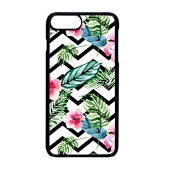 Geometric Flowers Pattern Apple Iphone 8 Plus Seamless Case (black) by goljakoff