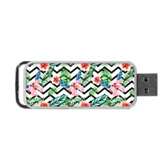Geometric Flowers Pattern Portable Usb Flash (two Sides) by goljakoff
