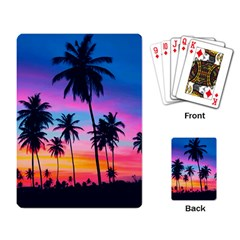 Summer Evening Palms Playing Cards Single Design by goljakoff