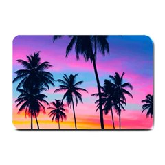 Summer Evening Palms Small Doormat  by goljakoff