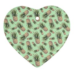 Green Pinapples Ornament (heart) by goljakoff