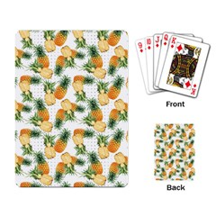 Pineapples Pattern Playing Cards Single Design by goljakoff