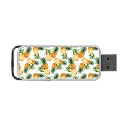 Pineapples Pattern Portable Usb Flash (one Side) by goljakoff