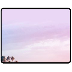 Seascape Dusk Fleece Blanket (medium)  by goljakoff