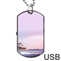 Seascape Dusk Dog Tag Usb Flash (one Side)