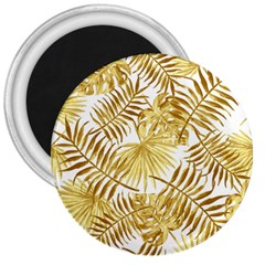 Gold Tropical Leaves 3  Magnets by goljakoff