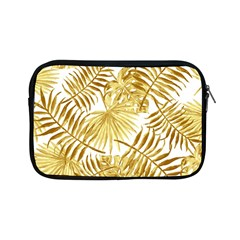 Gold Tropical Leaves Apple Ipad Mini Zipper Cases by goljakoff