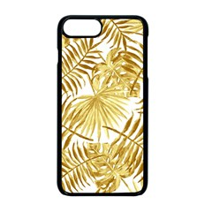 Gold Tropical Leaves Apple Iphone 8 Plus Seamless Case (black) by goljakoff