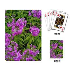Stratford Garden Phlox Playing Cards Single Design by Riverwoman