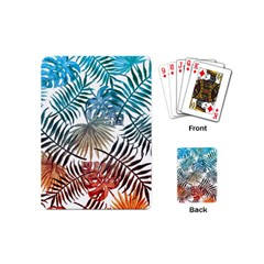 Gradient Tropical Leaves Playing Cards (mini) by goljakoff