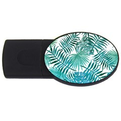 Azure Tropical Leaves Usb Flash Drive Oval (2 Gb) by goljakoff