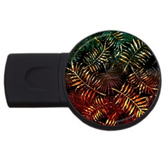 Night Tropical Leaves Usb Flash Drive Round (2 Gb) by goljakoff