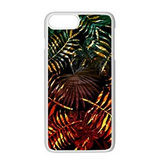 Night Tropical Leaves Apple Iphone 8 Plus Seamless Case (white) by goljakoff