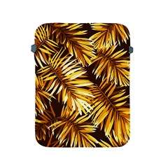 Gold Tropical Leaves Apple Ipad 2/3/4 Protective Soft Cases by goljakoff