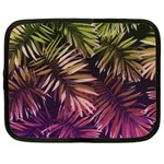 Green and purple tropical leaves Netbook Case (XXL) Front