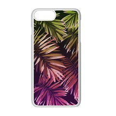 Green And Purple Tropical Leaves Apple Iphone 7 Plus Seamless Case (white) by goljakoff