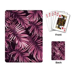 Rose Tropical Leaves Playing Cards Single Design by goljakoff