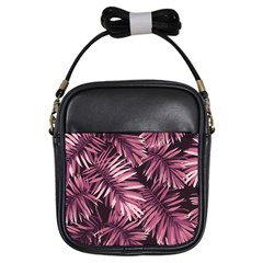 Rose Tropical Leaves Girls Sling Bag by goljakoff
