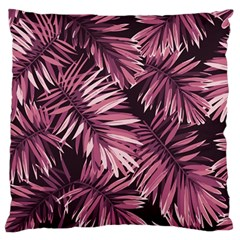 Rose Tropical Leaves Standard Flano Cushion Case (one Side) by goljakoff