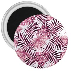 Light Rose Tropical Leaves 3  Magnets by goljakoff
