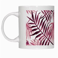 Light Rose Tropical Leaves White Mugs by goljakoff