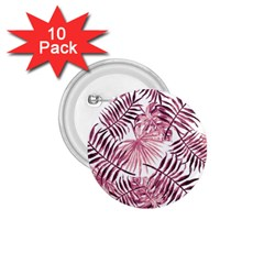 Light Rose Tropical Leaves 1 75  Buttons (10 Pack) by goljakoff