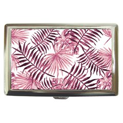 Light Rose Tropical Leaves Cigarette Money Case by goljakoff