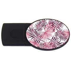Light Rose Tropical Leaves Usb Flash Drive Oval (2 Gb) by goljakoff