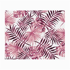 Light Rose Tropical Leaves Small Glasses Cloth by goljakoff