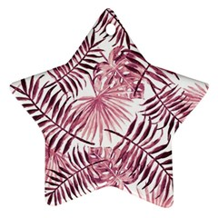 Light Rose Tropical Leaves Star Ornament (two Sides) by goljakoff