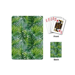 Green Tropics Playing Cards (mini) by goljakoff