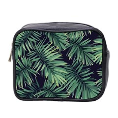 Green Tropical Flora Mini Toiletries Bag (two Sides) by goljakoff