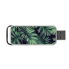 Green Tropical Flora Portable Usb Flash (one Side) by goljakoff
